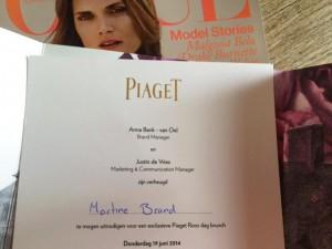 Martine Brand, Piaget