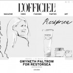 Gwyneth Paltrow for Restorsea, by Martine Brand