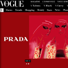 Martine Brand on Vogue Italia website, Editorial