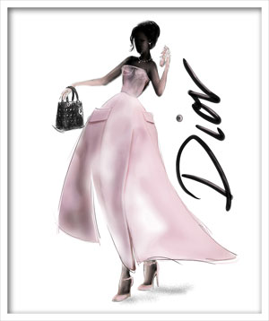 Dior, illustration Martine Brand
