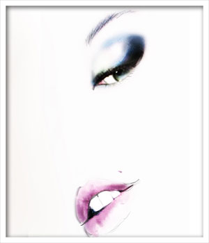 Giorgio Armani make up, Illustration by Martine Brand