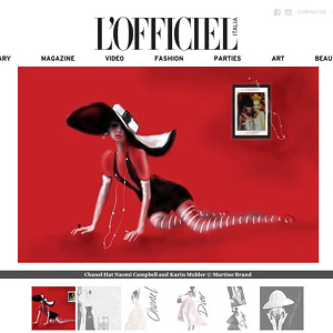 Chanel in L'Officiel Italia by Martine Brand
