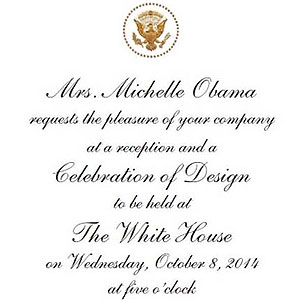 Private Invitation from Michelle Obama at the White House