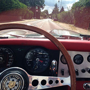 A ride in a superb vintage Jaguar