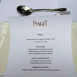 Private lunch at Piaget
