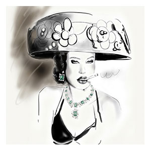 "<strong>CARTIER jewelry, DIOR hat, Haute Couture book</strong><br />  <span style=""color: #ff0000;"">ORIGINAL SOLD</span><br />  Print size 120 x 90 cm: <span style=""color: #ff0000;"">1</span> 2 3 4 5 6 7 8 9 10 / AP 1 2"