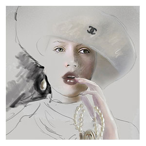 "<strong>CHANEL haute couture, pearls</strong><br />  <span style=""color: #0000ff;"">ORIGINAL AVAILABLE</span>"