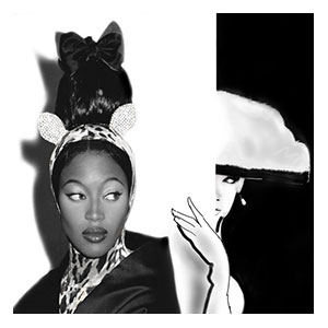 "<strong>Collaboration photographer Bruno Bisang, Naomi Campbell & illustrator Martine Brand</strong><br />  <span style=""color: #ff0000;"">EDITION 1/3, 1 SOLD ON AUCTION</span><br />  Print size 120 x 90 cm: <span style=""color: #ff0000;"">1 </span>2 3 / AP 1 2"